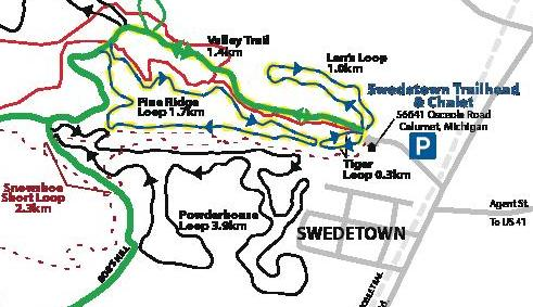 Swedetown ski and snowshoe trails